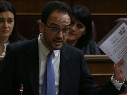 Antonio Hernando en el pleno del Congreso de los Diputados.