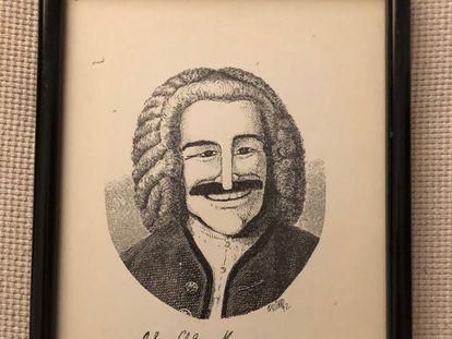 La caricatura que realizó Quino para Jorge Maronna, miembro de Les Luthiers.