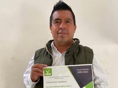 El candidato del Partido Verde a la Diputación por el Distrito 15, Francisco Rocha, en Tamaulipas.