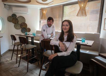 Alejandra Alvarez y su marido, Manuel Auer, propietarios del restaurante Killo Madrid.