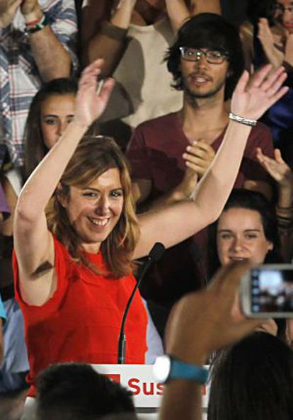 Díaz, tras conocer que era la única candidata.