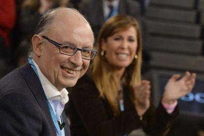 El ministro de Hacienda, Cristóbal Montoro, en la convención del PP de este fin de semana.