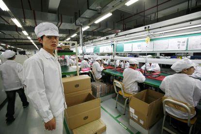Cadena de produccion de Foxconn
