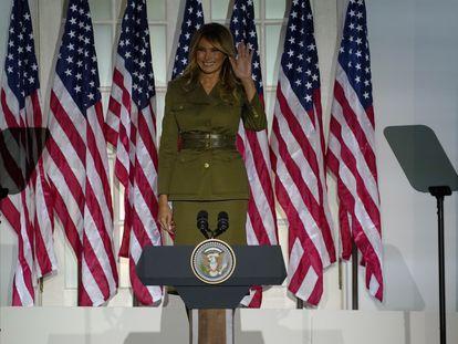 Melania Trump, antes de su discurso de apoyo a Donald Trump en la Convención Nacional Republicana en la Casa Blanca el pasado 25 de agosto.