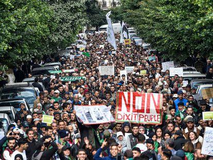 Manifestación del pasado martes en Argel.