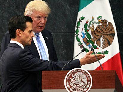 Encuentro entre el presidente de México, Enrique Peña Nieto, y el entonces candidato a la presidencia de Estados Unidos, Donald Trump, el pasado agosto.