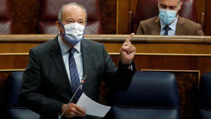 El ministro de Justicia, Juan Carlos Campo, durante una intervención en el Congreso.