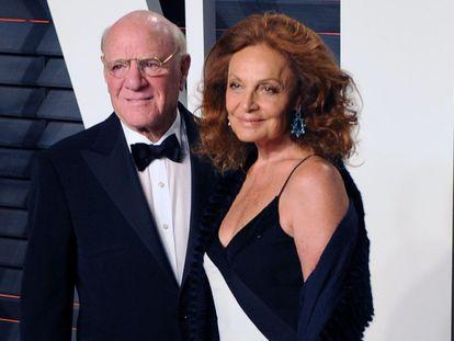 Barry Diller y Diane von Fürstenberg en una de las fiestas tras los Oscar de este año.