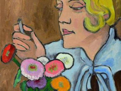 'Retrato de una artista (Margret Cohen)' (1932), cuadro de Gabriele Münter.