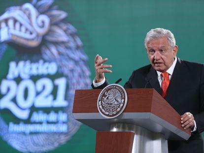 El presidente de México, Andrés Manuel López Obrador, esta semana en Palacio Nacional.
