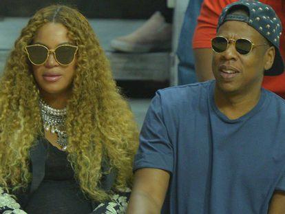 Beyoncé, con Jay-Z poco antes de dar a luz a sus gemelos.