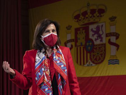 La ministra de Defensa, Margarita Robles, el pasado lunes en un acto en Sevilla.  22/03/2021