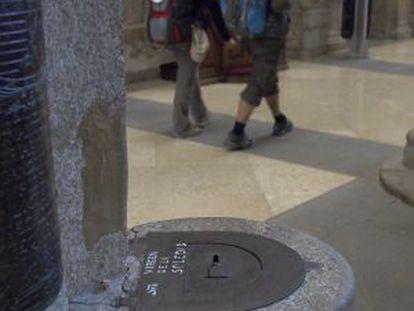 Cepillo en la Catedral de Santiago.