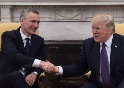 Trump y Stoltenberg, este miércoles en el Despacho Oval