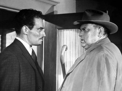 Charlton Heston y Orson Welles, en 'Sed de mal'.