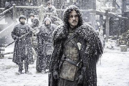 John Snow (Kit Harrington) preocupado por el invierno en una escena de Juego de Tronos