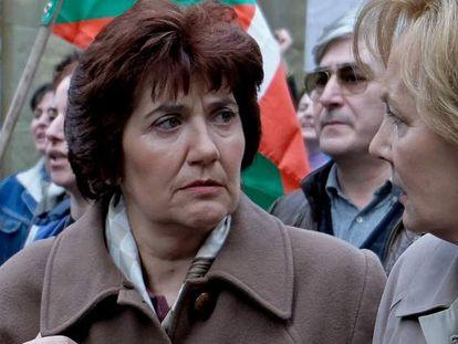 Ane Gabarain (en el centro), candidata al Emmy Internacional a mejor actriz principal por 'Patria'.