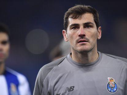 Iker Casillas, en un partido entre el Oporto y la Roma en febrero de 2019.