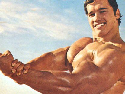 Arnold Schwarzenegger en sus años mozos.