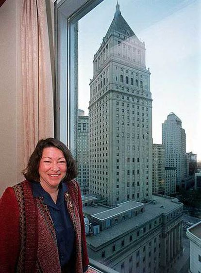 Sonia Sotomayor, en su oficina de Nueva York en 1998.