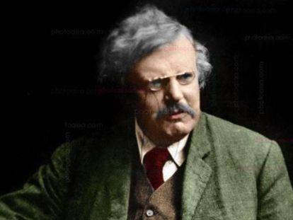 El escritor británico G. K. Chesterton.