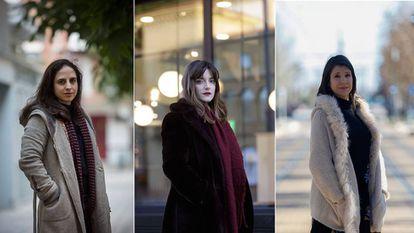 Cristina Morales, Lucía Baskaran y Aixa de la Cruz, retratadas esta semana en Barcelona, San Sebastián y Valencia