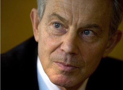 Tony Blair en un momento de la entrevista concedida a EL PAÍS, el pasado jueves.