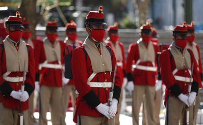 Guardia presidencial de Bolivia, en La Paz, el 16 de julio.