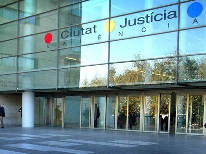 El acceso principal a la Ciudad de la Justicia de Valencia.