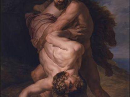 'Hércules y Anteo', obra de Rafael Tegeo, hacia 1828.