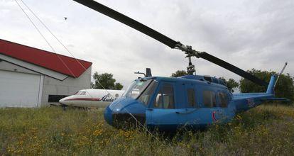 Hangar en el campus de Fuenlabrada de la Universidad Rey Juan Carlos.
