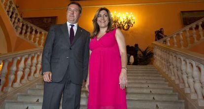 Susana Díaz y el alcalde de Sevilla, Juan Espadas.
