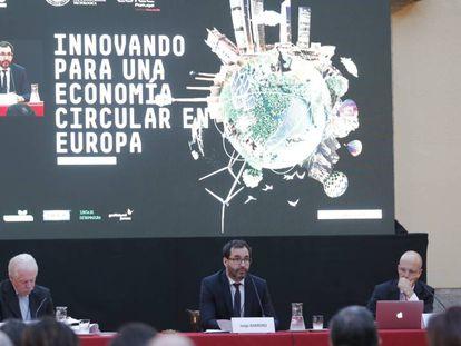 Acto de presentación en Madrid del primer informe sobre el estado de la economia circular en España