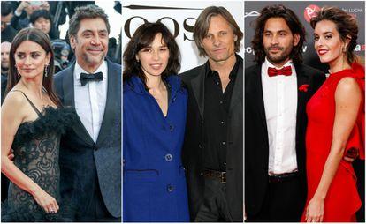 Penélope Cruz y Javier Bardem; Ariadna Gil y Viggo Mortensen; Pablo Ibáñez y Ona Carbonell.