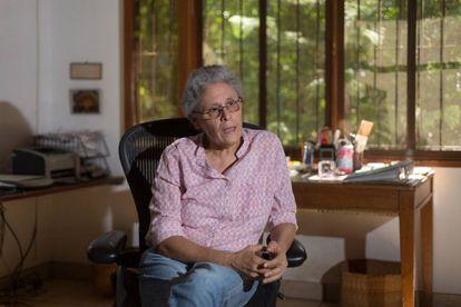 La exguerrillera e historiadora nicaragüense Dora María Téllez, en Managua, en una foto de archivo.