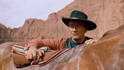 John Wayne, en 'Centauros del desierto'.