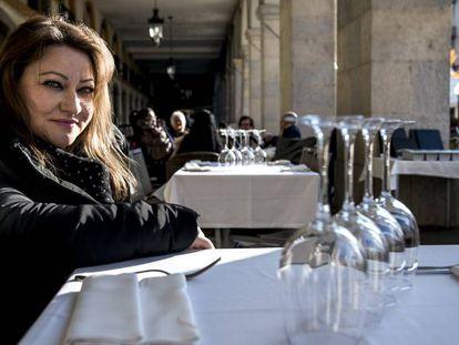 La rumana Ielena Andrei, en Girona.