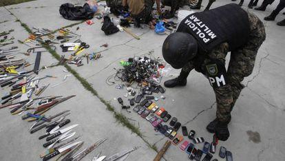 Redada de armas en una prisión hondureña.