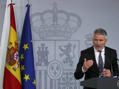 El ministro del Interior, Fernando Grande- Marlaska.