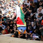 SENSITIVE MATERIAL. THIS IMAGE MAY OFFEND OR DISTURB Mourners carry the body of Palestinian man Hussien al-Titi, who was killed during stone-throwing clashes with Israeli forces, at Fawwar refugee camp near Hebron, in the Israeli-occupied West Bank, May 12, 2021. REUTERS/Mussa Qawasma
