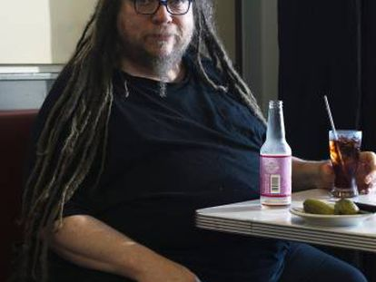 Jaron Lanier, durante la entrevista en Berkeley.