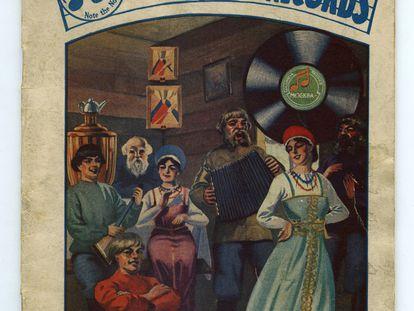 Portada del catálogo discográfico de música rusa editado por de Columbia Records, en 1955.