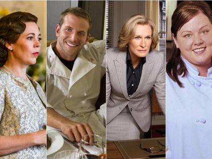 Algunos de los nominados al Oscar en series.