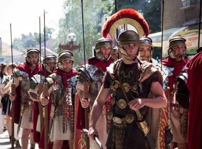 Legionarios romanos en una reconstrucción histórica.