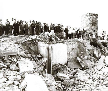 Demolición de las infraviviendas del Molinete, en 1968.