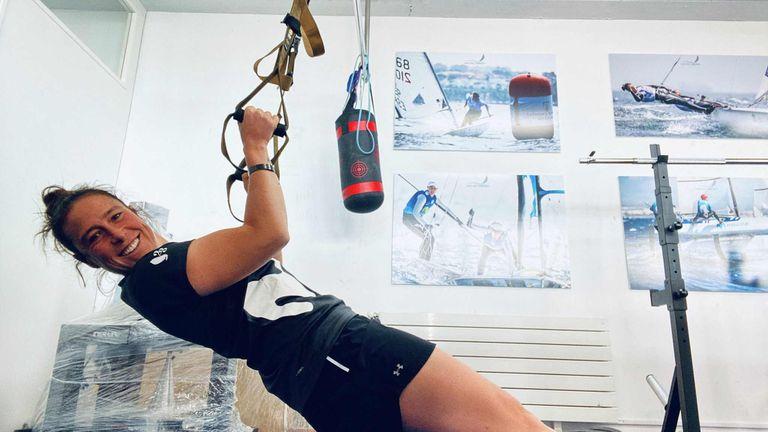 Tamara Echegoyen, entrenándose en el CEAR de Santander.