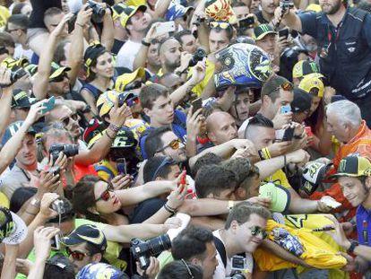 Valentino Rossi, este viernes en el circuito de Barcelona- Catalunya en Montmeló.