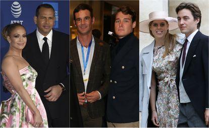 Jennifer Lopez, Alex Rodriguez, José Bono Rodríguez, Aitor Gómez, Beatriz de York y Edoardo Mapelli.