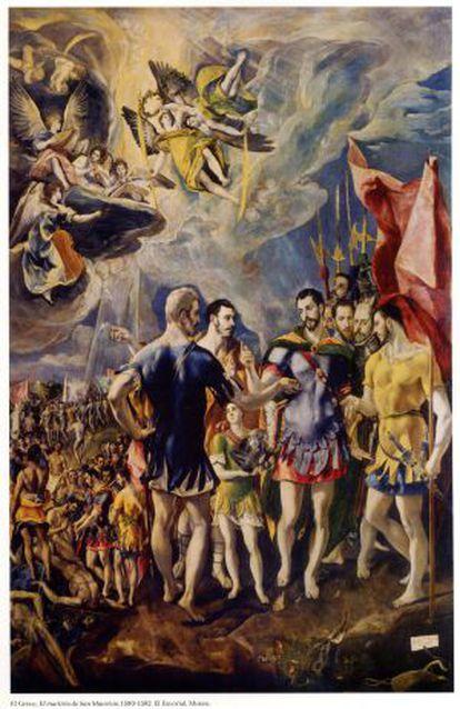 El Martirio de San Mauricio, pintado por El Greco para El escorial.