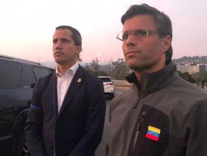 Maduro y Guaidó reivindican a los militares y llaman a una exhibición de fuerza en las calles del país en las marchas previstas para este miércoles